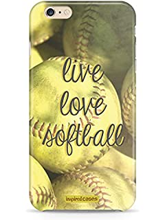 Inspired Cases 3D Textured Live Love Softball Case for iPhone 6 & 6s