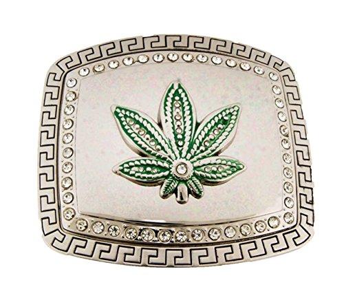 Wild Marijuana Pot Leaf Weed Cannabis Plant Belt Buckle Stoner Rasta Reggae Big