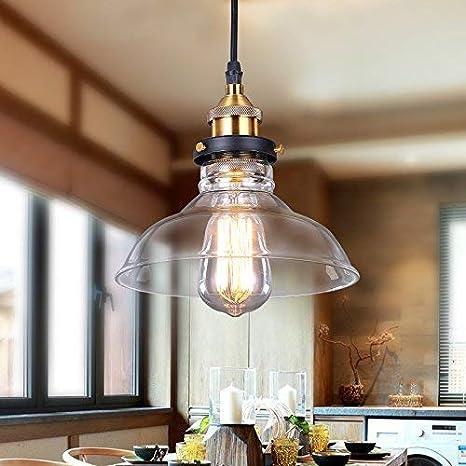SISVIV Lámpara Vintage Luz Colgante Industrial Iluminación de Techo