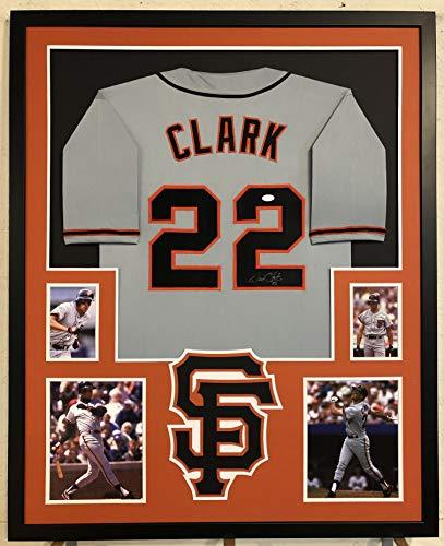 - Will Clark Autographed Custom Framed San Francisco Giants Jersey PSA Witnessed COA