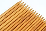 """RELIAN Bamboo Double Pointed Knitting Needles Set 5 Sets of 15 Sizes 8""""(20cm)(2.0mm-10.0mm)"""