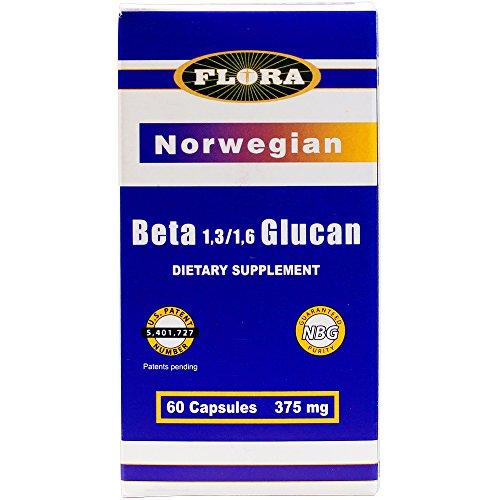 Flora - Norwegian Beta 1,3/1,6 Glucan Capsules - 60 count (FFP)