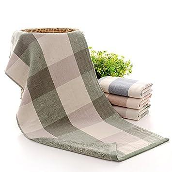 ZHFC Regalo toalla de la boda cumpleaños de la boda cumpleaños empresa regalo regalo beneficios set de regalo 74x33cm sola.,Buena castaña verde: Amazon.es: ...