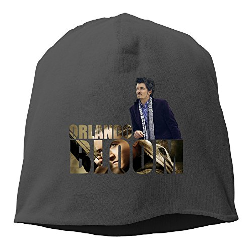 [Caromn Orlando Bloom Poster Beanies Skull Ski Cap Hat Black] (Womens Three Musketeers Costumes)