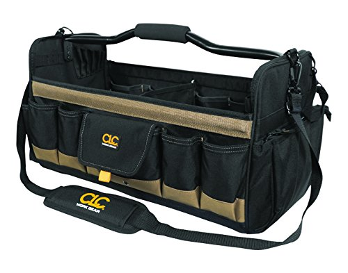 CLC Custom Leathercraft 1579 20 Inch, Open Top, Soft Sided Tool Box, 27 Pockets