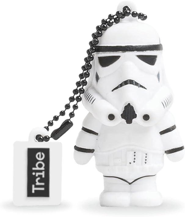 Tribe Disney Star Wars Stormtrooper USB Stick 8GB Speicherstick 2.0 High Speed Pendrive Memory Stick Flash Drive, Lustige Geschenke 3D Figur, USB Gadget aus Hart-PVC mit Schlüsselanhänger – Weiss 1