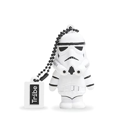 Tribe Disney Star Wars Stormtrooper - Memoria USB 2.0 de 8 GB Pendrive Flash Drive de Goma con Llavero, Color Blanco