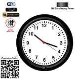 720P Wall Clock WiFi Spy Camera -BSTCAM 10inch 180 Days Long Standby Motion Detector Record P2P IP Nanny Hidden Spy Wall Clock Camera Support 32GB SD Card [Video Only]