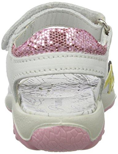 Primigi Mädchen PBR 7597 Offene Sandalen mit Keilabsatz Weiß (BIANCO/ROSA)