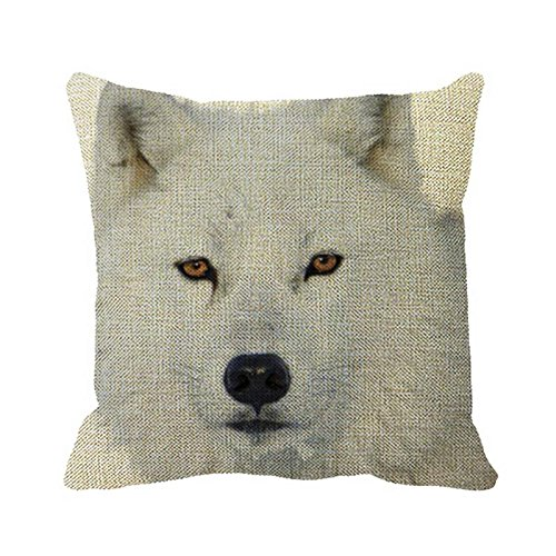 Julyou Pillow Cover Wisdom Is Mine PillowCase Cover for bedroom or Sofa (Wolf Arctic Rests)