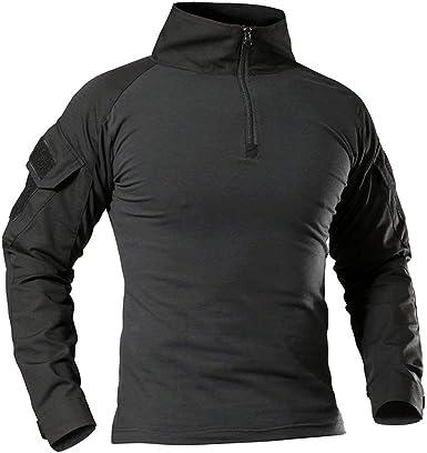 Antarctica la camisa de manga larga táctico camiseta rápida militar de asalto del ejército combate rápido asalto slim fit: Amazon.es: Ropa y accesorios