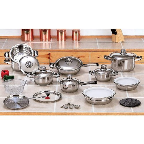 12 Element 28pc T304 Stainless Steel Waterless Cookware S...
