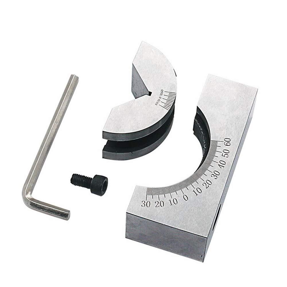 Micro bloque de /ángulo ajustable calibre AP25 de alta precisi/ón /ángulo V bloque 0 60/° para fresado Torno