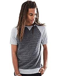 Young Men's Short Sleeve Sweatshirt Raglan Top