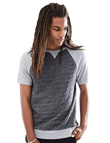 Rebel Canyon Young Men's Short Sleeve Sweatshirt Raglan Top