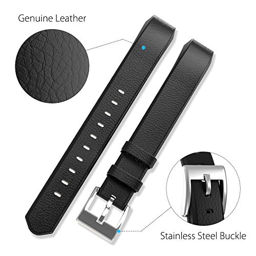 Henoda Leather Bands for Fitbit Alta HR and Fitbit Alta Strap Style,Small Large, No tracker