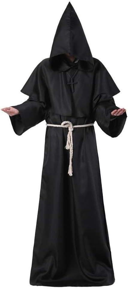 3WHLD Disfraz de Halloween, Fraile Medieval Hooded,Monk Robe Traje ...