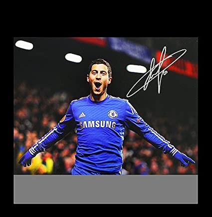 40eee7f1255 Image Unavailable. Image not available for. Color  Eden Hazard Autographed  Signed Chelsea 12x18 Photo  UEFA Europa League Goal - Certified Authentic  Soccer