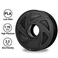 3D Printer Filaments - Black 1.75 mm PLA Filament, Low Odor High Precision 3D Printing Filament, 2.2 lbs / 1kg Spool 3D Printer Filament for Most 3D Printers & 3D Pens from rock space