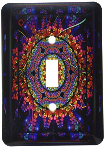 (3dRose lsp_24832_1 4 Mandala India Buddhism Hinduism psychedellic New Age Harmony Balance Meditation Toggle Switch Multi-Color )