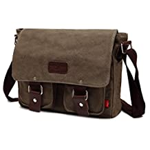 Magictodoor Vintage Canvas Shoulder Military Messenger Bag Sling School Bags Great Christmas/Birthday Gift Ag2101hui.ca