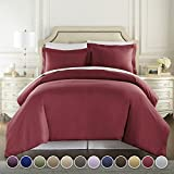 1500 Thread Count DUVET COVER, Queen-Burgundy