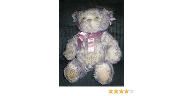 6 Inch Gold Ribbon Childhood Cancer Awareness Heart Teddy Bear
