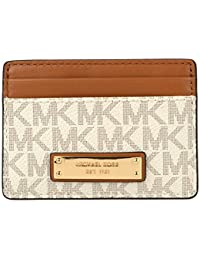 MIchael Kors Jet Set Logo Card Case - Vanilla