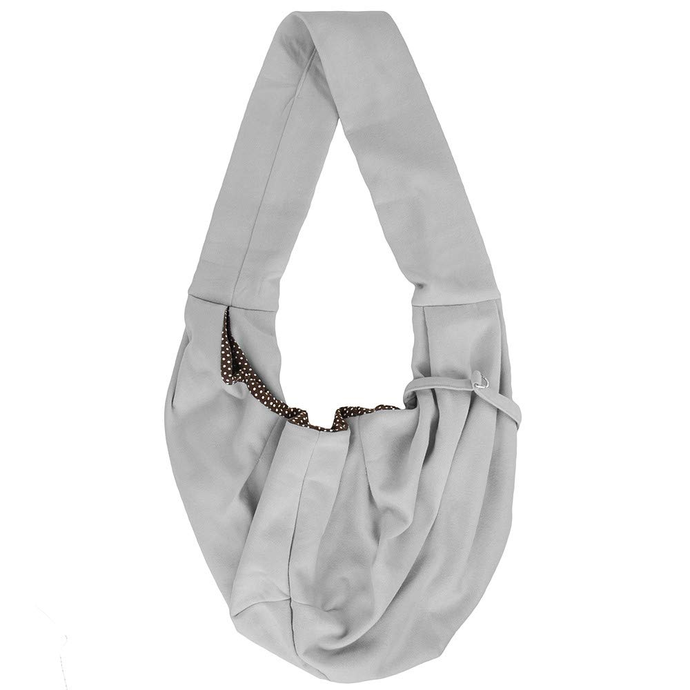 WGS Sling Pet Carrier Hands Free Breathable Cotton Shoulder Carrying Bag for Puppy Small Dogs and Cats