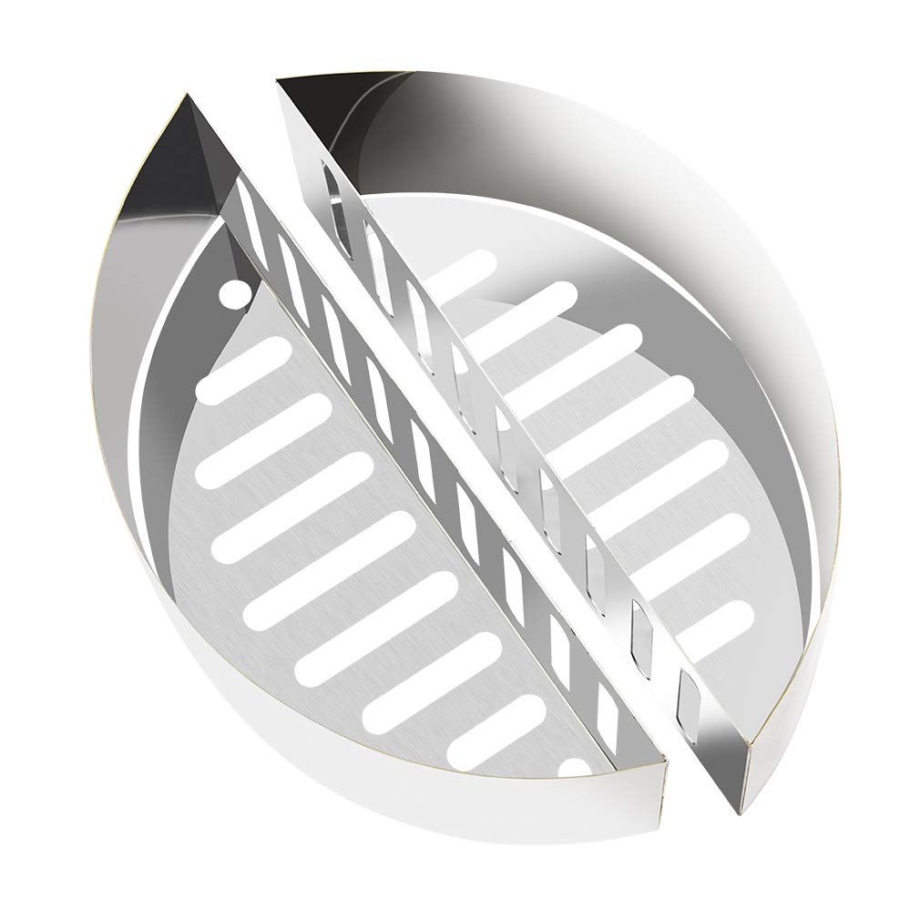 Onlyfire Stainless Steel Contoured Charcoal Basket Holders Fits for Kettle Grill,2 pcs for a Set by only fire