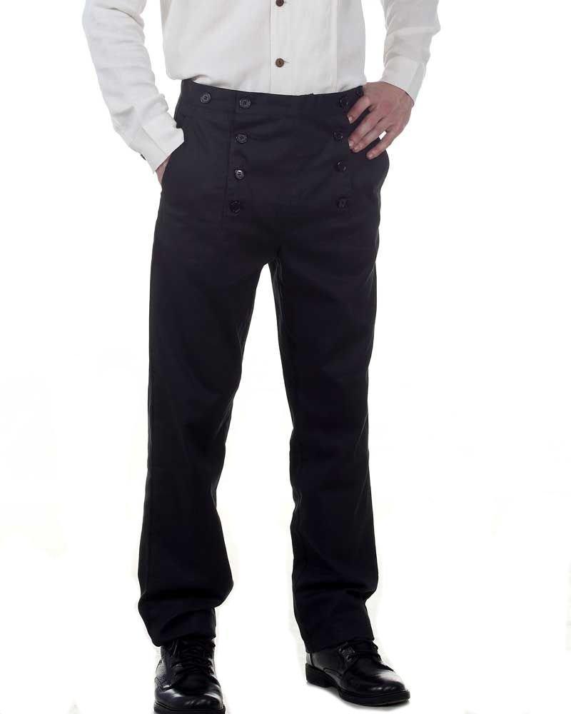 Steampunk Victorian Cut Black Architect Pants - Size Large