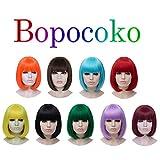 Bopocoko Short White Wigs for Women, 12'' White Bob
