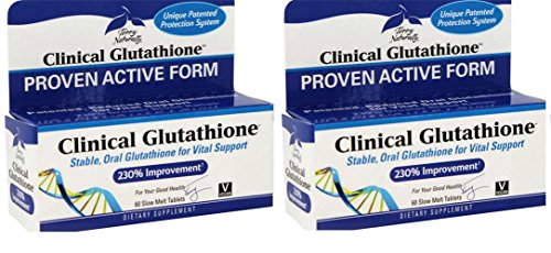 EuroPharma (Terry Naturally) Clinical Glutathione - 60 Sublingual Tablet - Glutathione (Packof 2) by Europharma/Terry Naturally