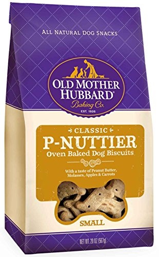 Old Mother Hubbard Classic Crunchy Natural Dog Treats, P-Nuttier Small Biscuits, 20-Ounce - Gift Usa Online