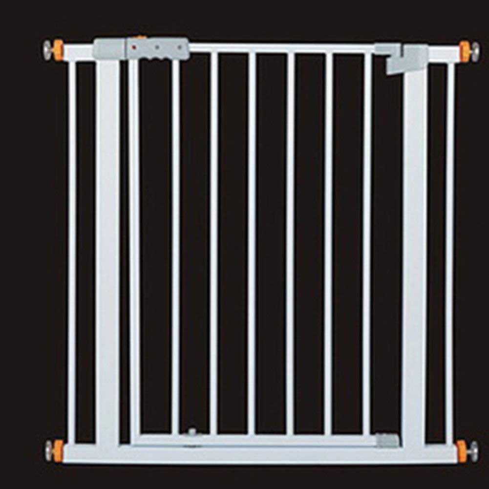 Huo Baby Gate Deluxe Pressure Fit Safety Gate, White, Easy Open & Auto Close, Fits Doors/Hallways/Stairs (Size : 82-91CM)