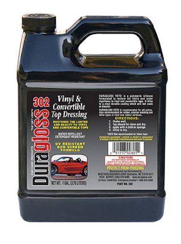 Duragloss 302 Vinyl Convertible and Tonneau Dressing - 1 Gallon (Dressing Top Vinyl)