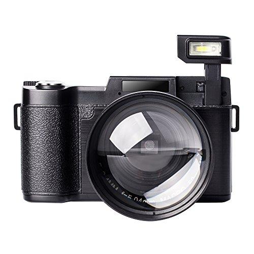 Digital Camera Vlogging Camcorder Full HD Camcorders 1080p 24.0 Megapixels Camera Include 52MM Wide Angle Close Up Lens