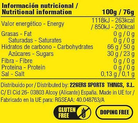 226ERS High Energy Gels, Gel Energético Vegano con Ciclodextrina - Doping Free - Limón, 24 unidades