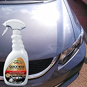KevianClean Quick Wax Car Detailing Spray - Liquid Carnauba Wax Polish Provides Ultimate UV Protection and Deep Hydrophobic Shine For All Automotive Surfaces & Paint Finishes - 24 oz.
