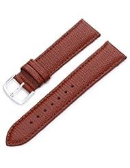Hadley-Roma Women's LSL725LR 200 20mm Tan Java Lizard Grain Watch Strap
