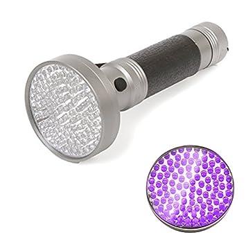100 LED Premium ultravioleta linterna de mano para la detección de gato perro orina/fluidos corporales/cama Bugs, inspección de dinero, pasaportes, ...