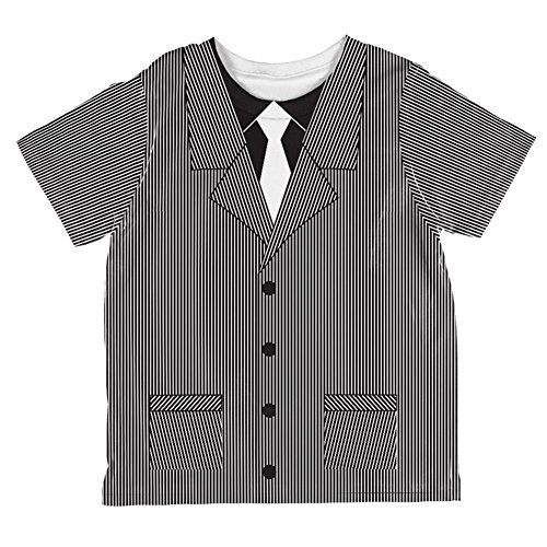 Halloween 20's Gangster Costume All Over Toddler T Shirt Multi -