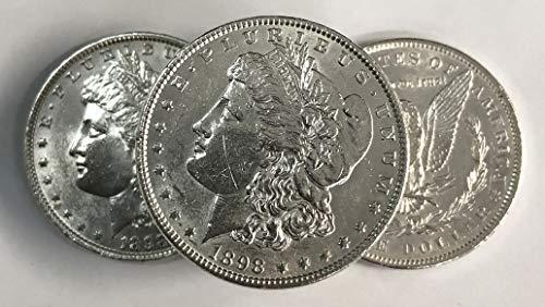 (1898 Morgan Silver Dollar AU $1 About Uncirculated)