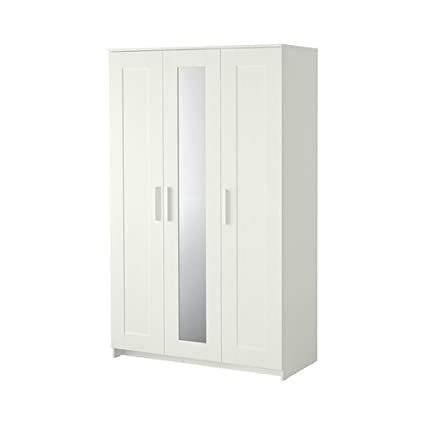 Amazoncom Ikea Brimnes Home Bedroom Wardrobeswardrobe With 3 Doors
