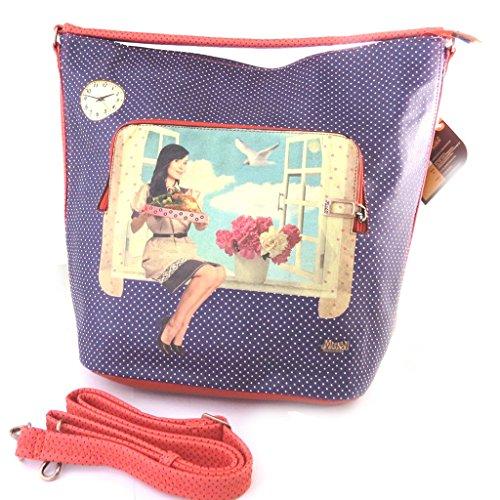 Bag creator 'Mundi'red blue (vintage).