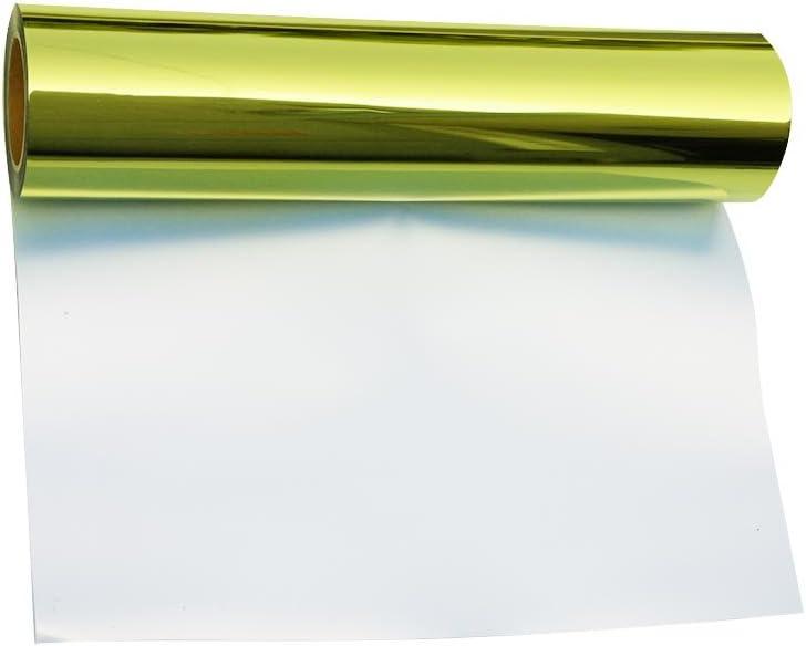 hoho metálico oro verde hoja de transferencia de calor de vinilo de prensa HTV papel para ropa 20