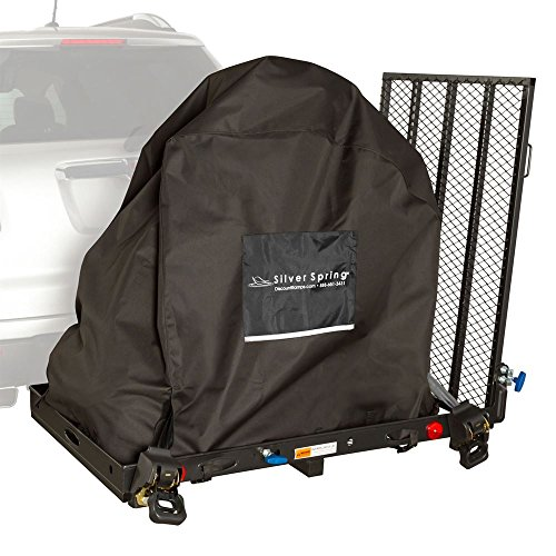Silver Spring Essential Hitch Mobility 400 lb Carrier with Scooter Cover