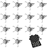 14pcs Hunting Broadheads, Archery Judo Broadheads 100 Grain Points Tips with Storage Box, 4mm Stainless Steel