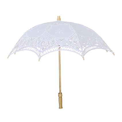 ea80af7129be Amazon.com: SODIAL(R) Victorian umbrella umbrella lace wedding bride ...