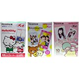 Fujifilm Instax Mini Hello Kitty, Rilakkuma and Little Twin Stars Instant Films, 10 Sheets, Pack of 3